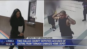 Two Dallas County deputies arrested for stealing from tornado-damaged Home Depot