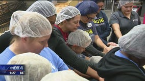 Volunteers help Feed My Starving Children charity in Richardson