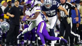 Cook leads Vikings to 28-24 road win over Cowboys