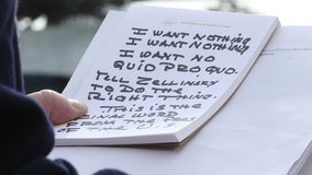'I want no quid pro quo': Read Trump's talking points scrawled on Air Force One notepad