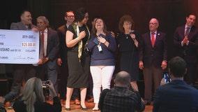 Dallas middle school teacher recognized with prestigious award, $25K check