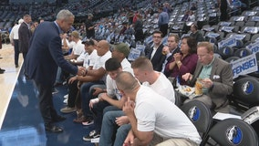 Dallas Mavericks, season ticket holders honor service members