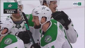 Benn scores in OT as Stars beat Oilers 5-4