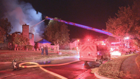 North Texas home damaged by recent severe weather damaged by morning fire