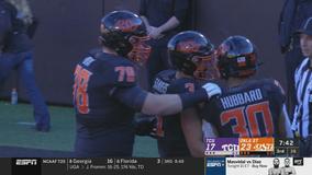 Hubbard's 223 yards, 2 TDs lead Oklahoma St past TCU 34-27