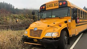 Bus driver crashes into ditch with 10 children aboard, arrested for DUI, officials say