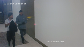 Irving police search for suspects stealing from vehicles in apartment garages