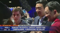Democrat presidential candidate Andrew Yang makes campaign stop in Dallas