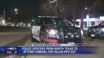 Arlington officers travel to Houston for Sgt. Brewster's funeral