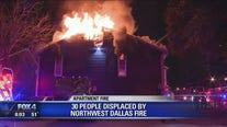 Dozens displaced after large apartment fire