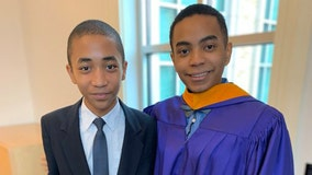 17-year-old receives master's degree from TCU, and his 14-year-old brother is following his lead