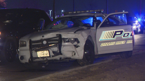 DWI suspect arrested after hitting DART police car