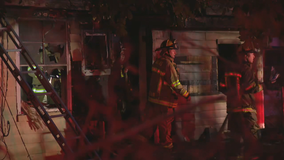 Woman jumps out of window to escape fire that destroyed Dallas home on Christmas morning