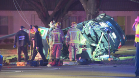 4 teens injured after driver crashes while street racing in Dallas
