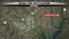 Man found dead after McKinney homeless camp catches fire