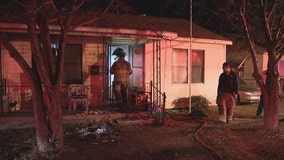 Elderly woman dies after being pulled from burning Fort Worth home