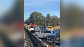 69-car pileup on Interstate 64 sends dozens to hospital near Williamsburg