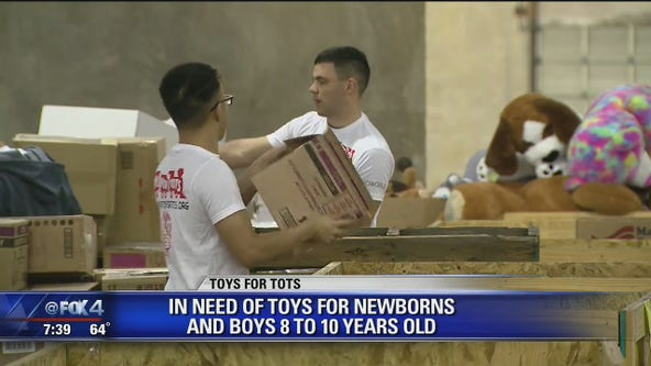 Toys for Tots most in need of toys for newborns, older kids