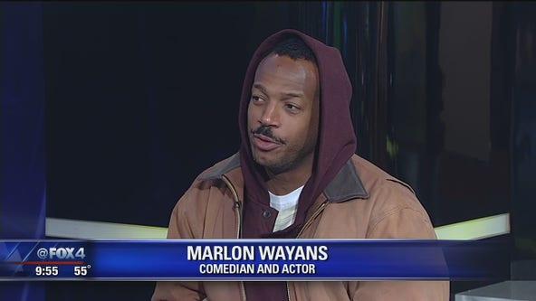 Marlon Wayans on stage with DeRay Davis Friday in Grand Prairie