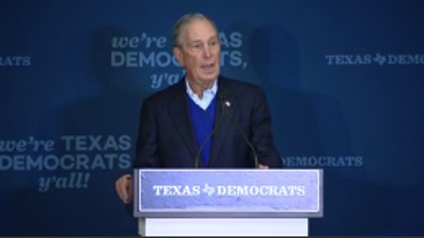 Democrat Presidential candidate Michael Bloomberg visited North Texas