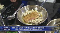 Pecan Crusted Redfish withCrab and Brown Butter