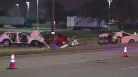 Wrong-way crash in Arlington leaves 2 dead, 1 with serious injuries