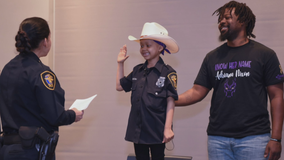 6-year-old battling cancer becomes Fort Worth officer for a day