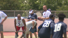 Dallas Renegades quarterback out with a knee injury; XFL announces new rules