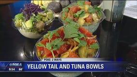 Yellowtail and Tuna Poke Bowls