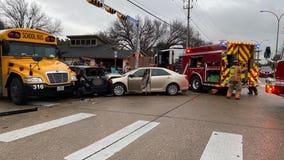 Two people hurt in crash involving Arlington ISD bus