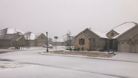 Winter weather moves through North Texas Saturday morning