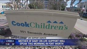 Fort Worth mother fighting to keep her baby on life support will hold a news conference this morning