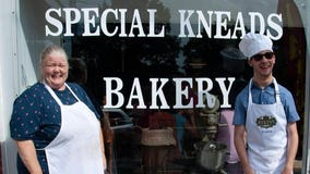 Mother opens 'Special Kneads Bakery' to employ son with cerebral palsy