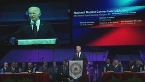 Former vice president Joe Biden campaigns in Arlington