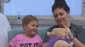 Quinlan 5-year-old back in hospital months after bone marrow transplant