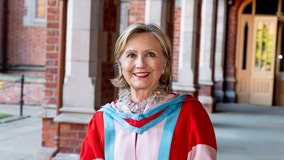 Hillary Clinton takes ceremonial role at Queen's University in Belfast