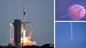 With a bang, SpaceX tests capsule's ability to save crew during launch