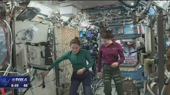 Fort Worth students call ISS astronauts