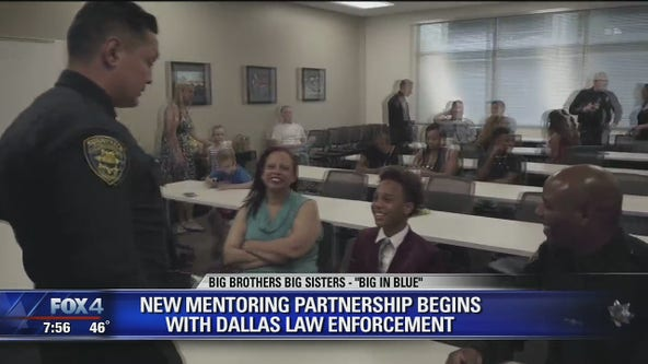 Dallas police begin new mentoring program with Big Brothers Big Sisters