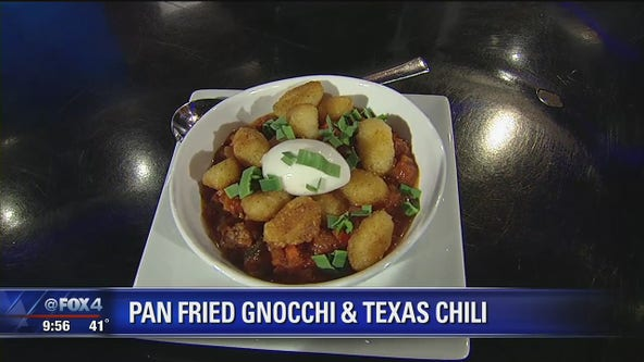 Pan Fried Gnocchi & Texas Chili