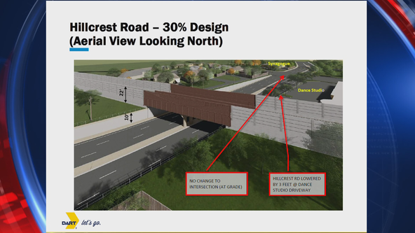 Residents question DART's plan to elevate train crossing for Silver Line