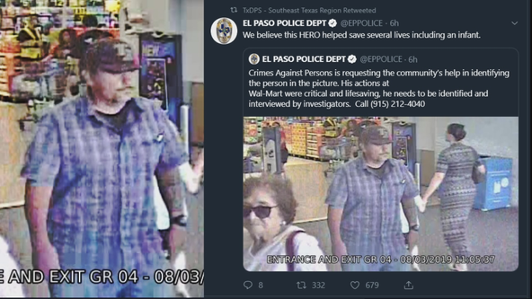 Authorities ID then-homeless man who saved baby during El Paso mass shooting