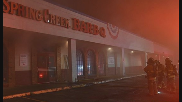 Fort Worth barbecue restaurant catches fire overnight