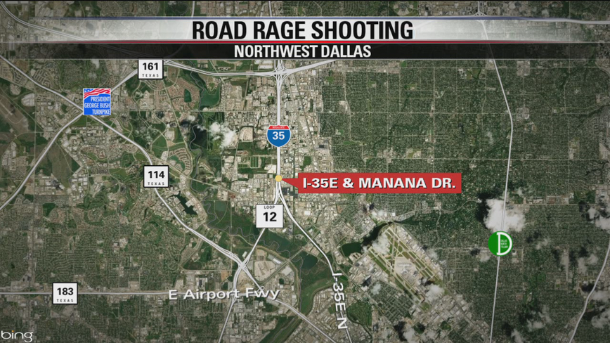 Girl shot on I-35 in Northwest Dallas in apparent road rage incident