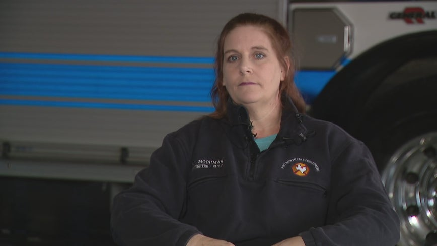 Fort Worth firefighter struck by car urges drivers to slow down or move over