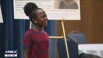 11-year-old Broadway star returns to North Texas for visit