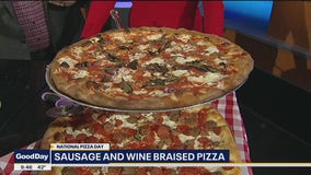 Sausage and Wine-Braised Pizza