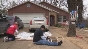 UNT Dallas students help repair home where 1-year-old was killed in drive-by shooting