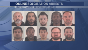 10 busted in Tarrant County for online solicitation of a minor