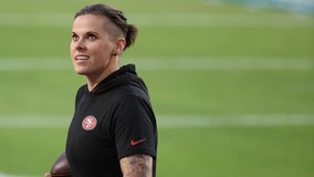 Katie Sowers makes history as first woman coach at Super Bowl